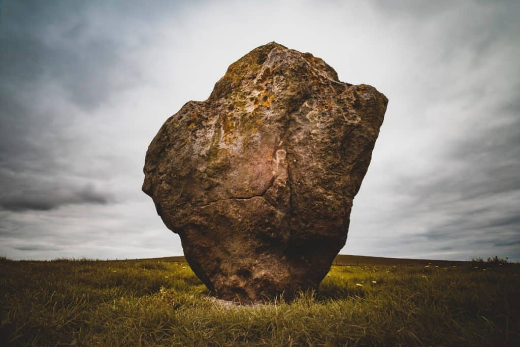 Unnatural lone rock